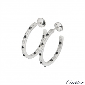 Cartier White Gold Panthere De Cartier Earrings